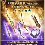 【グラブル】黄龍・麒麟武器5凸に対する反応 麒麟剣は攻刃量はディア刀にわずかに劣るがステータスは高いし、光ダメ軽減17.5%が強力で5凸優先度高め?